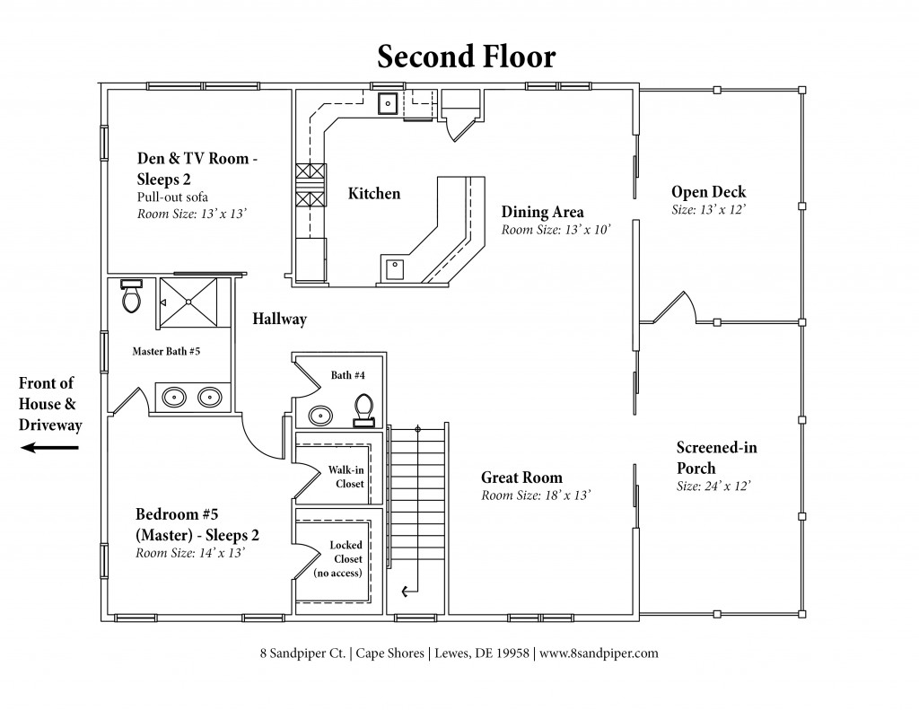 house floor plans no hallways.  House Floor Plan 8 Sandpiper